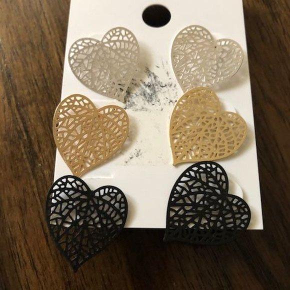 Jewelry - Heart Earrings Trio